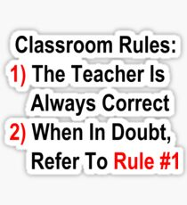 Classroom Rules Sticker