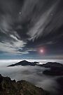 Mars Rising Over Haleakala - Maui by Michael Treloar