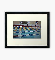 Swimming Lane Marker Framed Print