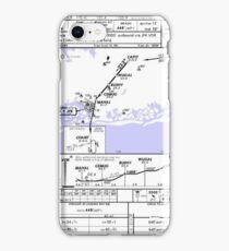 Aviation Chart KJFK - New York iPhone Case/Skin