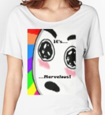 ...Marvelous... Amazed face Rainbow Women's Relaxed Fit T-Shirt