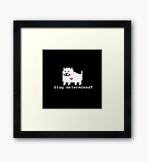 Undertale - Stay Determined! Framed Print