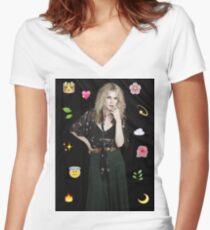 AHS - Misty Day - Emoji - Lily Rabe Women's Fitted V-Neck T-Shirt