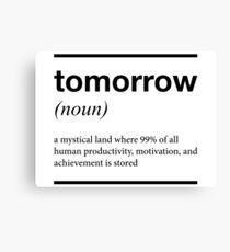 tomorrow T shirt Canvas Print