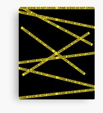 Crime Scene Do Not Cross The Line Canvas Print