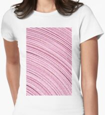 A Roll Of Pink Ribbon - Macro  Women's Fitted T-Shirt