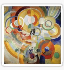Robert Delaunay - Carousel With Pigs . Abstract painting: abstraction, geometric, expressionism, composition, lines, forms,  Pig , Carousel , music, kaleidoscope, fantasy future Sticker