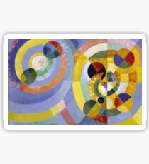 Robert Delaunay - Circular Forms . Abstract painting: abstraction, geometric, expressionism, composition, lines, forms, creative fusion, music, kaleidoscope, illusion, fantasy future Sticker