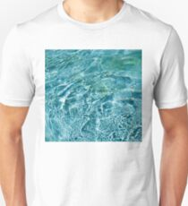 Aquamarine and Turquoise Rainbows - Gems in a Fountain - Horizontal Unisex T-Shirt