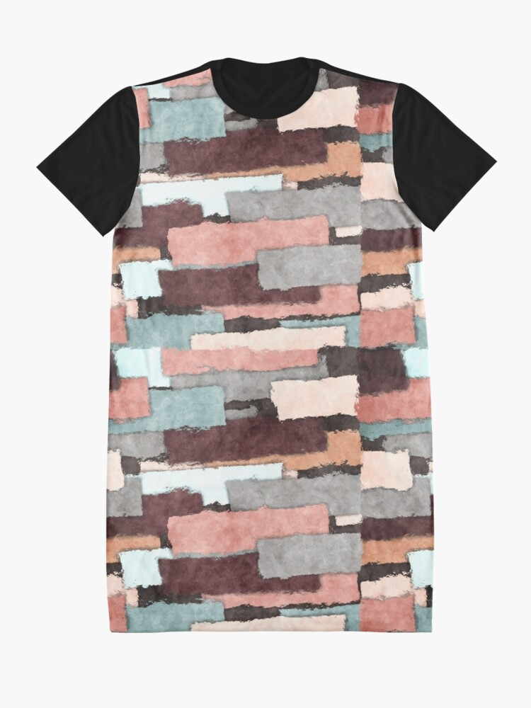 Alternate view of Colorful Patches Abstract Graphic T-Shirt Dress