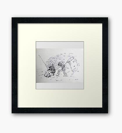 Catch it Framed Print