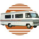 Vintage RV Travel Retro Orange Motorhome Travelling by vintagegoodness
