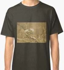 Shen Nanpin - Album Of Birds And Animals (Cranes). Forest view: forest , trees,  fauna, nature, birds, animals, flora, flowers, plants, field, weekend Classic T-Shirt