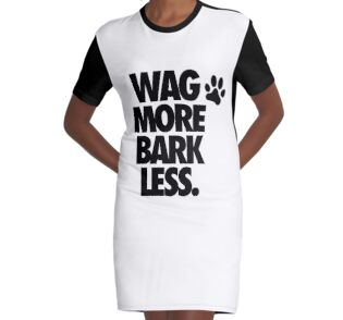 Quot Wag More Bark Less Quot Stickers By Cpinteractive Redbubble