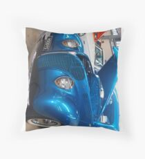 Blue Cruiser Throw Pillow