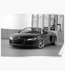 2011 AUDI R8 4.2L SPYDER NO GREY AREA Poster