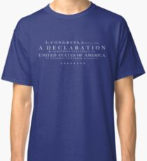 Declaration of Independence Classic T-Shirt