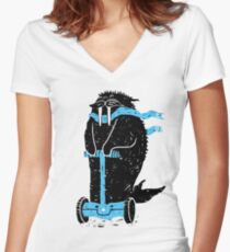 Easy Ridin' Walrus Fitted V-Neck T-Shirt