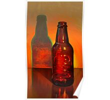 Root Beer Bottle Still Life Poster
