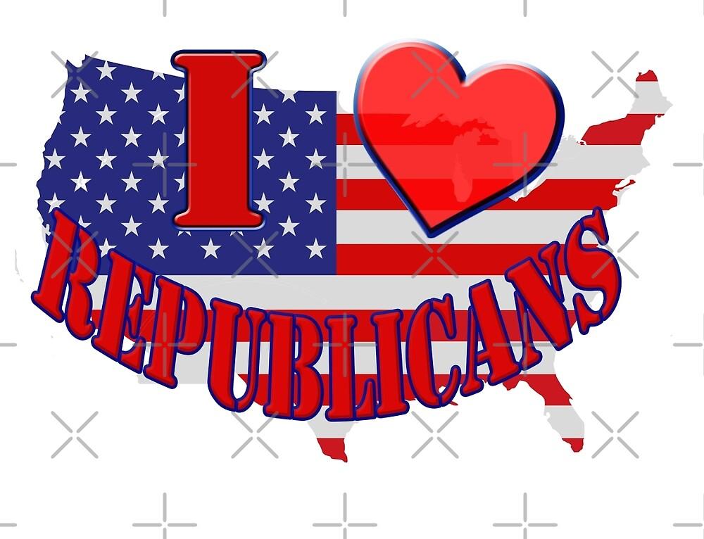 I Love Republicans by Buckwhite