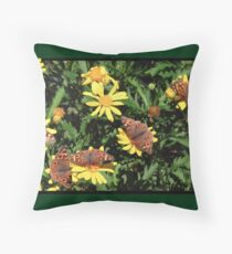 A kaleidoscope of Butterflies Throw Pillow