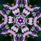 Pansy Floral Fractal Art by Tori Snow