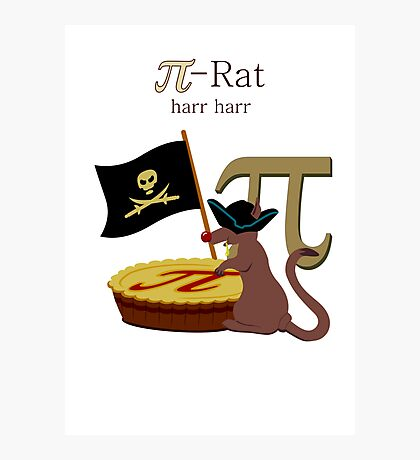 Pi-Rats love Pie VRS2 Photographic Print