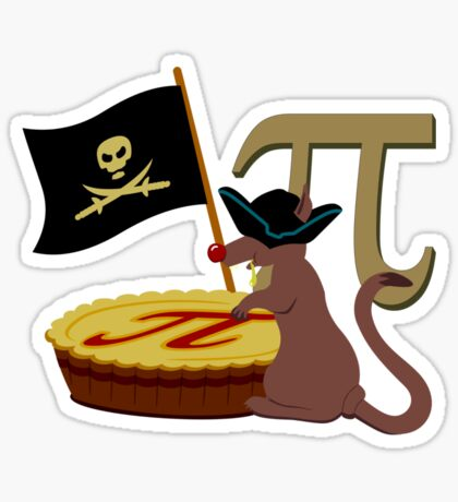 Pi-Rats love Pie VRS2 Sticker