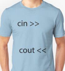 Cin Cout C++ Unisex Tee T-Shirt