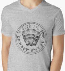 I Fell in Love at the Seaside Mens V-Neck T-Shirt