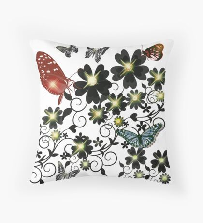 BUTTERFLY-VINTAGE Throw Pillow