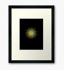 Fractal Flower-Yellow / Earthtones -geometric art Framed Print