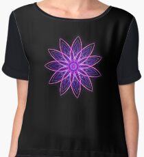 Fractal Flower - Purple Chiffon Top