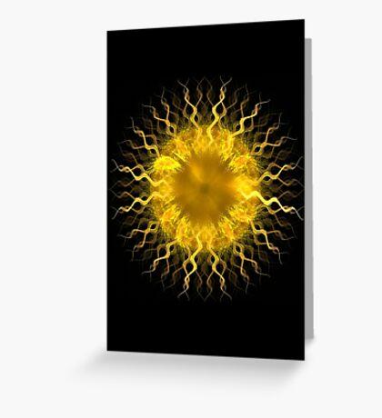 Sol - Fractal Art Design Greeting Card