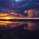 Sunrise and shower, Lee Point, Darwin. by Keith McGuinness