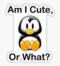 Am I Cute, Or What? Sticker