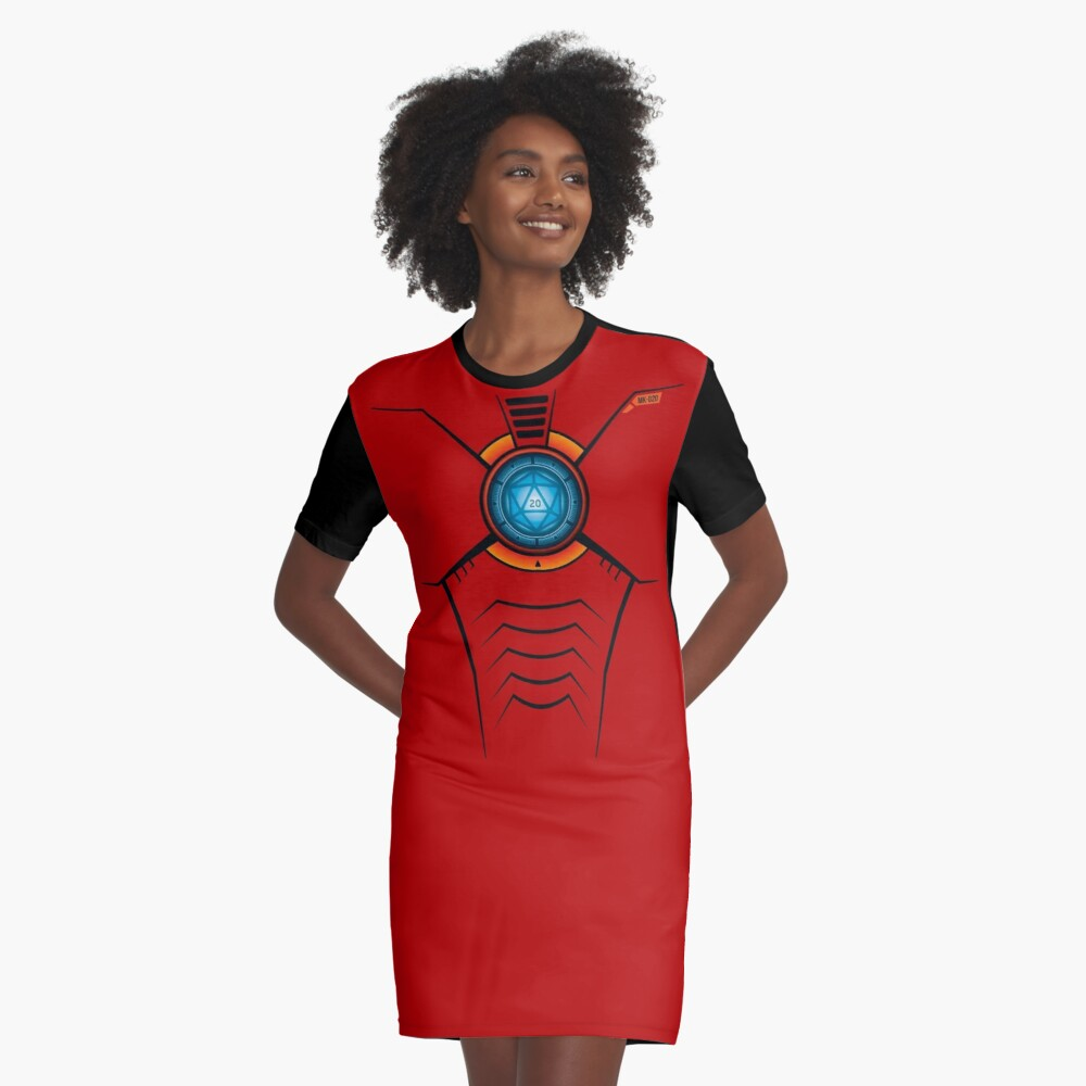 d20 Arc Reactor Graphic T-Shirt Dress Front