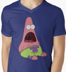 Surprised Patrick Star  Men's V-Neck T-Shirt