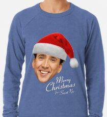 Frohe Weihnachten von St Nic-Olas Cage Leichter Pullover
