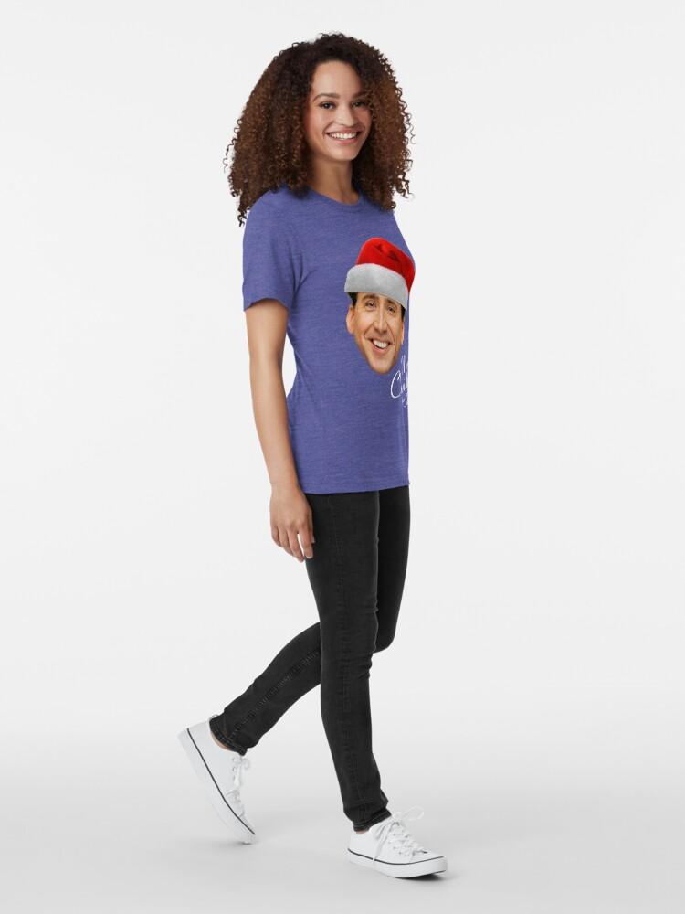 Alternative Ansicht von Frohe Weihnachten von St Nic-Olas Cage Vintage T-Shirt