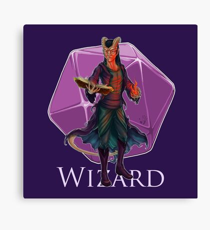 Dungeons and Dragons Wizard Canvas Print