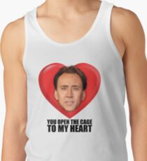 0d69c1d913621 Nicolas Cage - You Open the Cage to My Heart Men s Tank Top