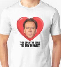 Nicolas Cage - Du öffnest den Käfig zu meinem Herzen Slim Fit T-Shirt