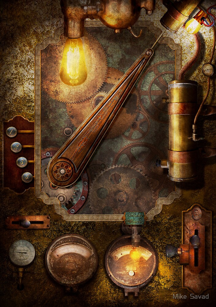 Steampunk - Victorian fuse box by Michael Savad