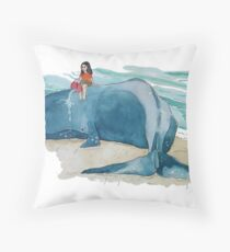 Beached Whale Throw Pillow