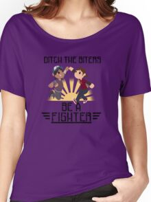 Ditch The Biters, Be A Fighter Women's Relaxed Fit T-Shirt