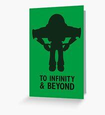 Buzz Lightyear: To Infinity & Beyond - Black Greeting Card