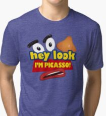 Hey Look I'm Picasso Toy Story Tri-blend T-Shirt