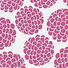 Minimal Raspberries Blossoms by Pom Graphic Design