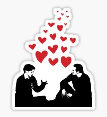 Cherik in the Field with Hearts Sticker